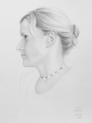 Ivan Radman, pencil portrait